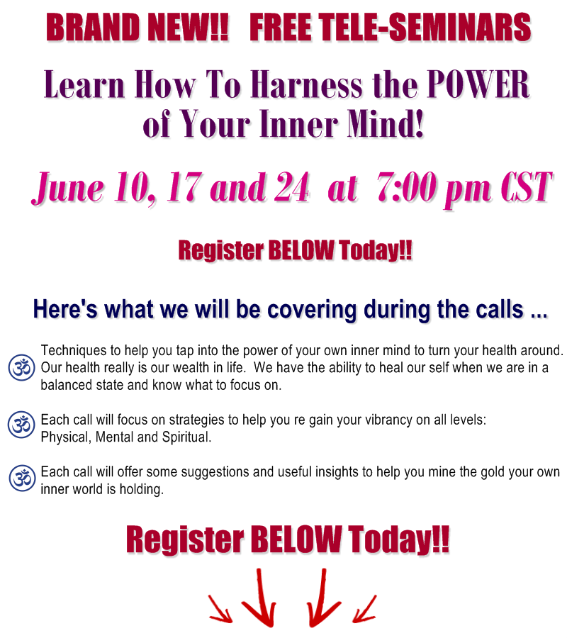 Register For This FREE Tele-Seminar Series TODAY!!