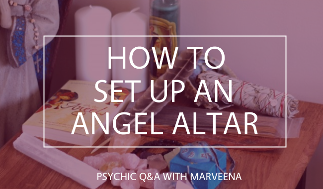 angel altar, connecting to your angels