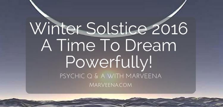 Winter Solstice, MarVeena Meek, Dallas Psychic Medium