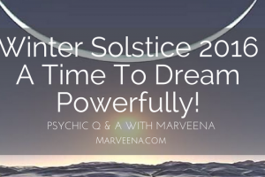 Winter Solstice, MarVeena Meek, Dallas Psychic Medium